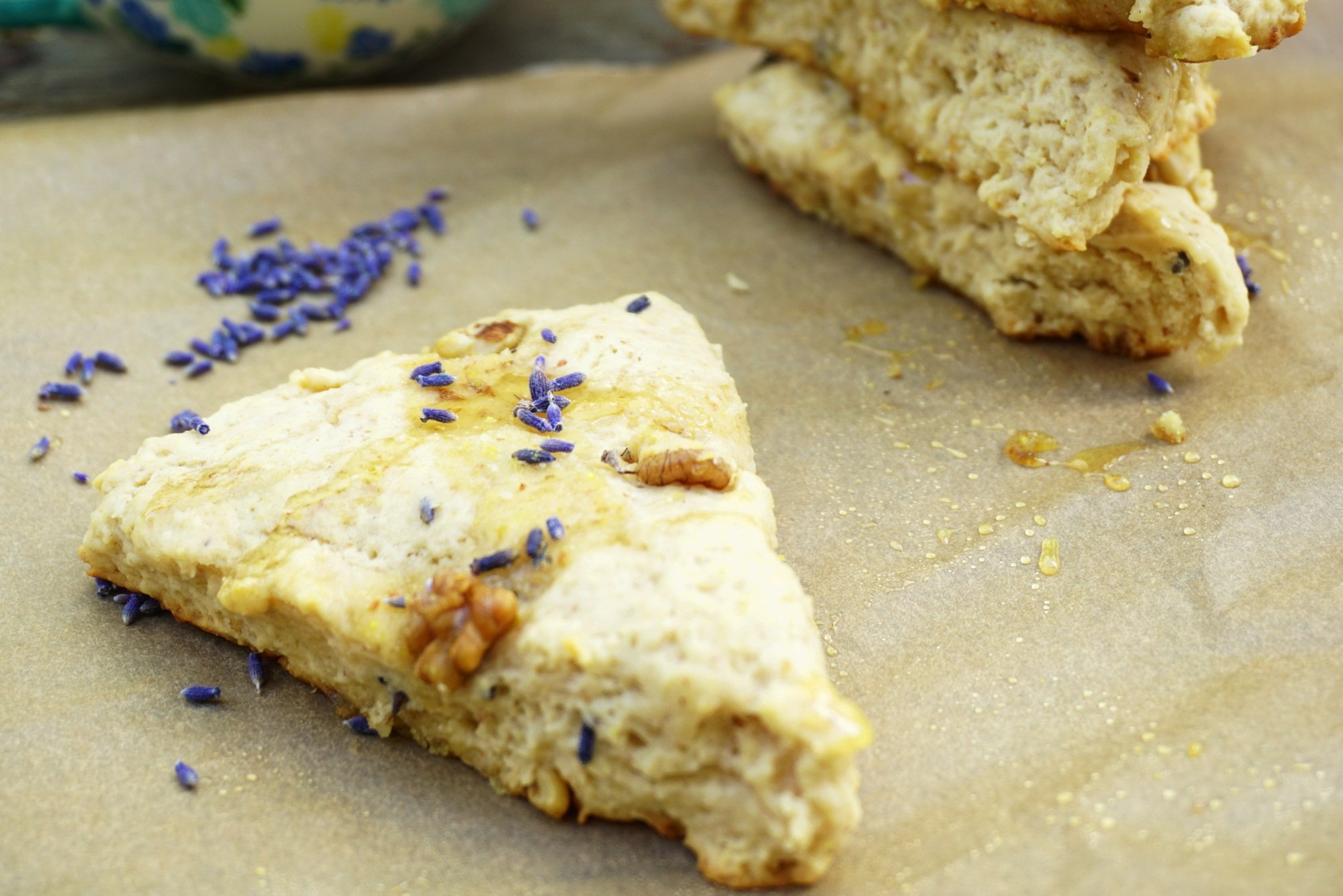 Lavender And Toasted Walnut Scones Recipe — Dishmaps
