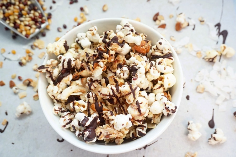 ... never have enough Vegan salted caramel popcorn by Vegan High Tech Mom