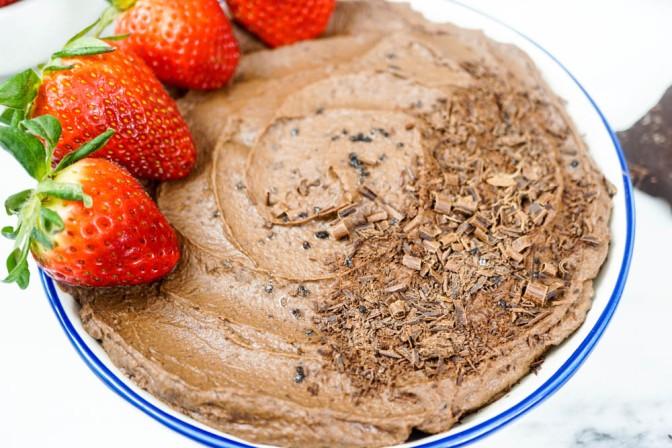 5-minute health(ier) brownie batter dip