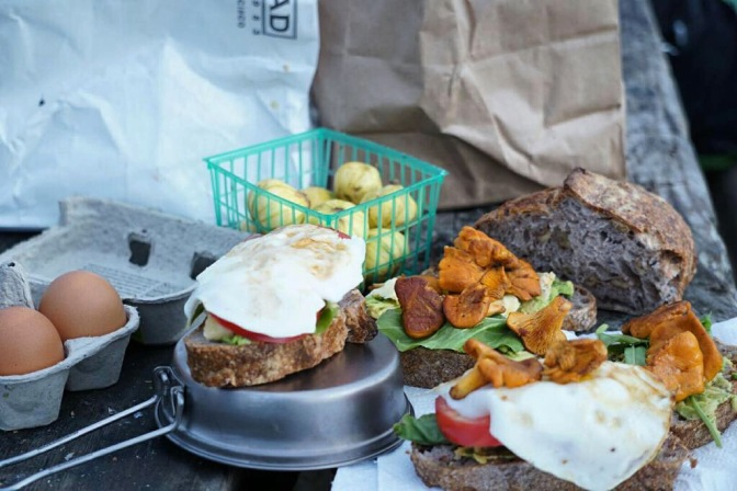 But first, travel + a camper's breakfast sandwich
